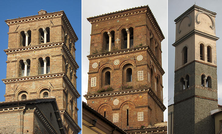 Bell towers of S. Pietro and of S. Maria della Rotonda