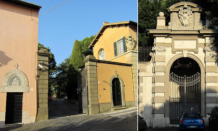 Entrances to the Papal Villa