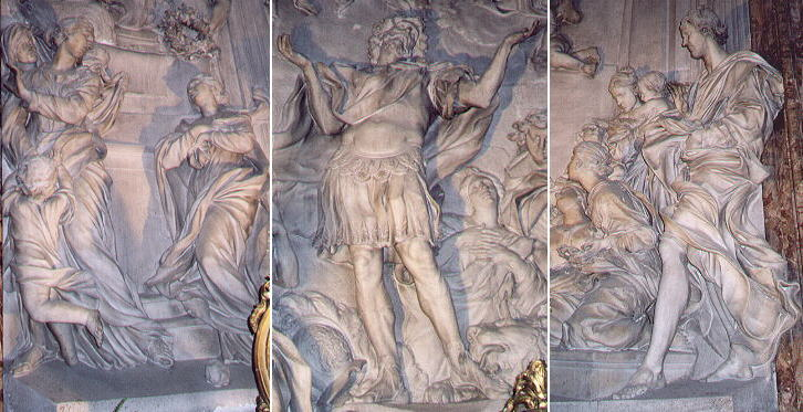 Reliefs by Ercole Ferrata, Melchiorre Caff� and Antonio Raggi in S. Agnese in Agone