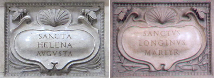 Inscriptions of St. Helena and of St. Longinus
