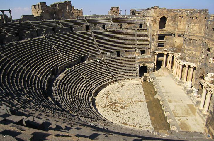 House Built Into Hill >> Capital of Roman Arabia - Bosra - The Roman Town