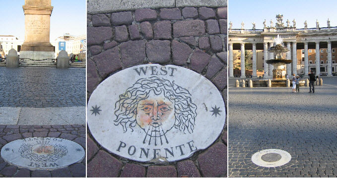 Inscription in Piazza S. Pietro