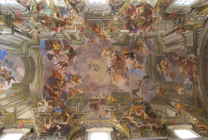 Baroque ceilings Rules for painting ceilings