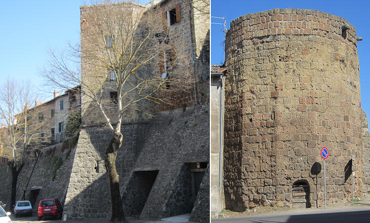 Northern walls and towers