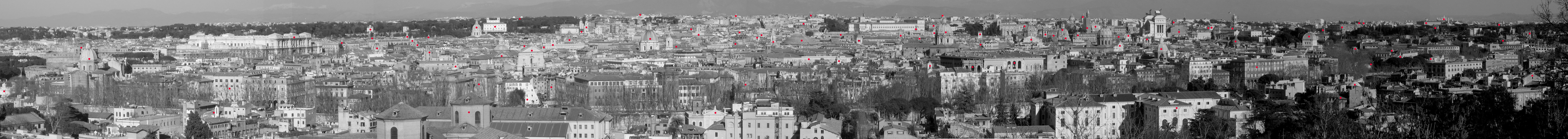 Grand View of Rome from Villa Lante - Clickable View