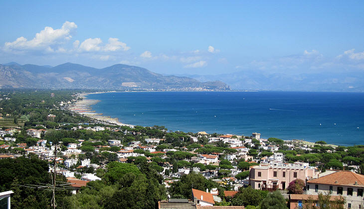 View towards Terracina