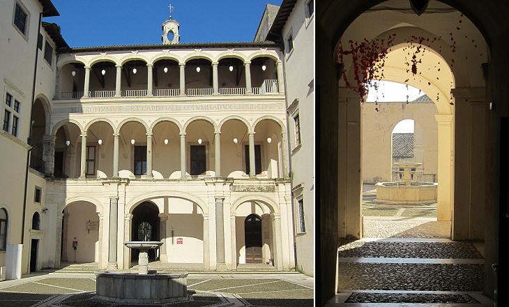 The courtyard of Palazzo Colonna