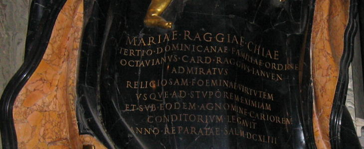Monument to Maria Raggi