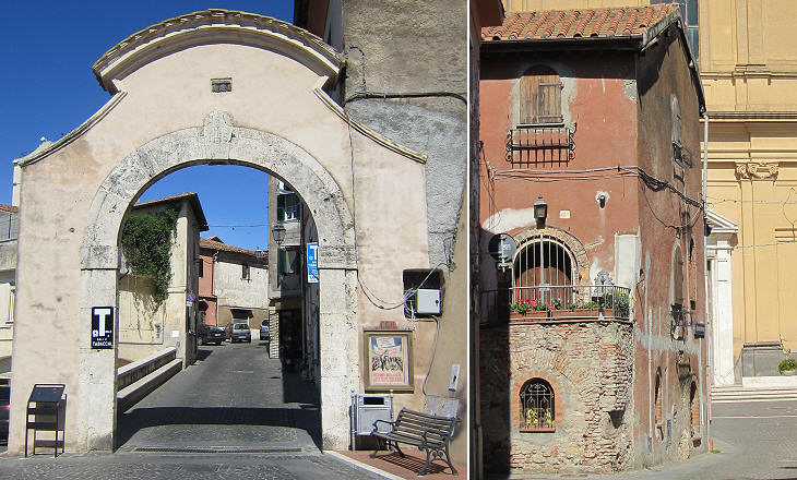 (left) Main gate; (right) medieval house