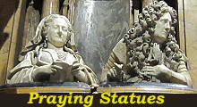 Praying statues