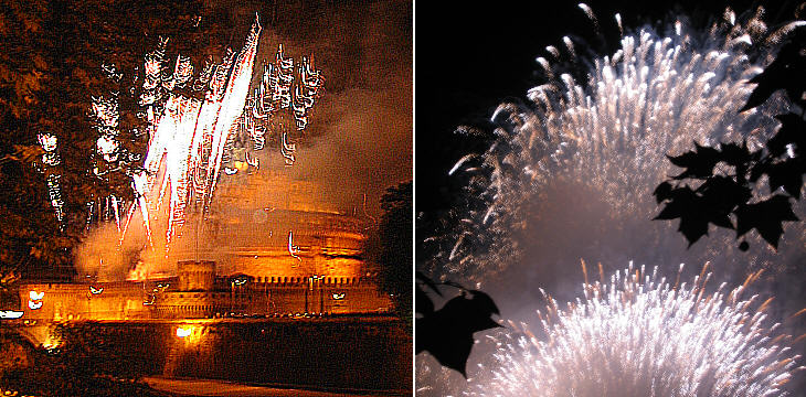 Fireworks at Castel Sant'Angelo