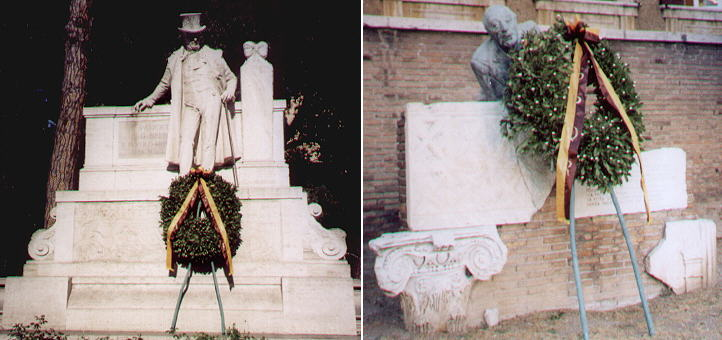 The Roman poets Giuseppe Gioacchino Belli and Trilussa are honoured