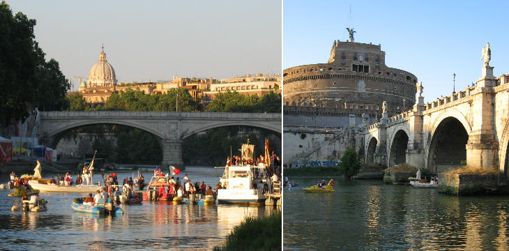 The procession begins at Ponte S. Angelo