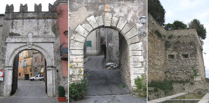Two gates and a section of the walls of S. Oreste