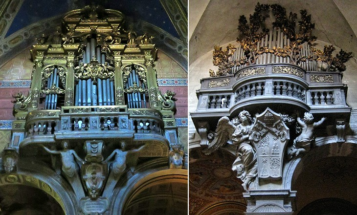 Organs in S. Maria sopra Minerva and in S. Maria del Popolo