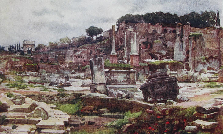 Alberto Pisa - Roman Forum - View towards the Arch of Titus