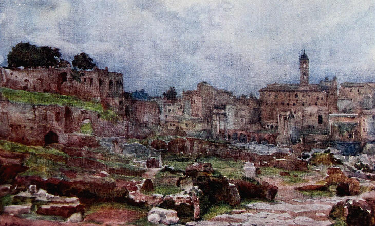 Alberto Pisa - Roman Forum - view towards the Capitol