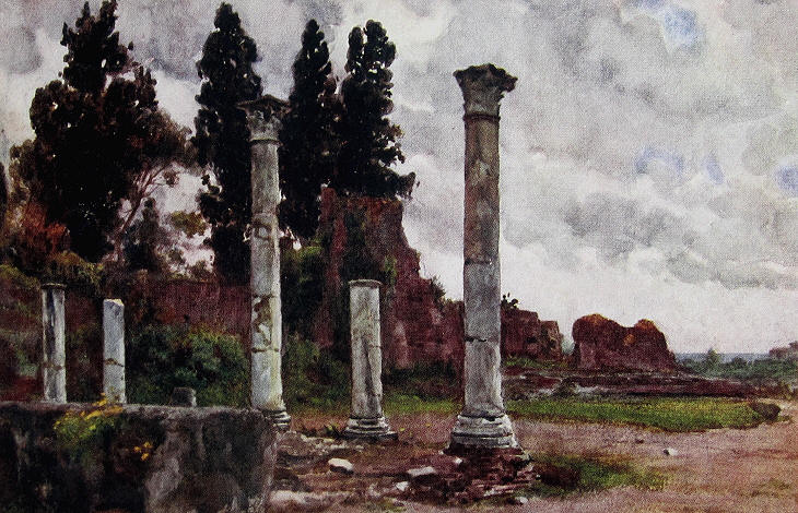 Alberto Pisa - Ruins in the Orti Farnesiani