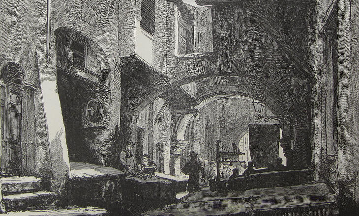 The fish market at Portico di Ottavia