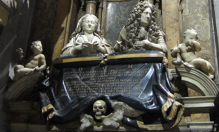Monument to Marquis Antonio Publicola Santacroce and his wife Girolama Nari (1709)  by Lorenzo Ottoni in S. Maria in Publicolis