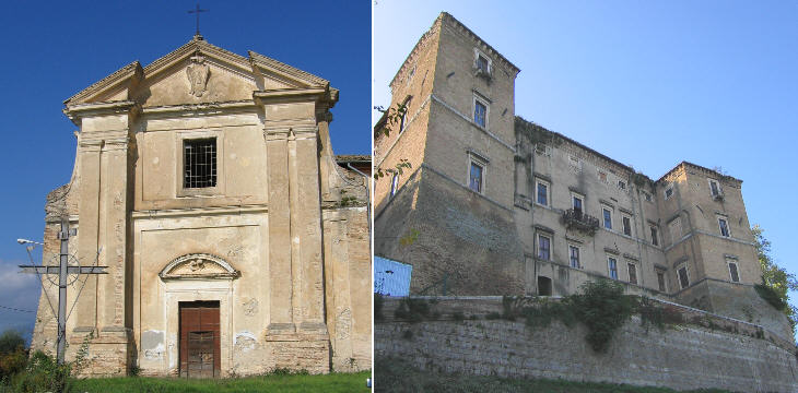 S. Biagio (deconsecrated): rear view of Palazzo Cesi Camuccini