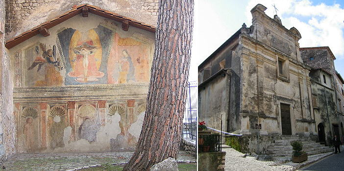 Paintings of a ruined church; S. Giuseppe
