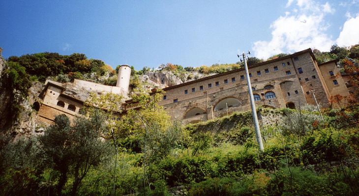 The monastery seen from the valley