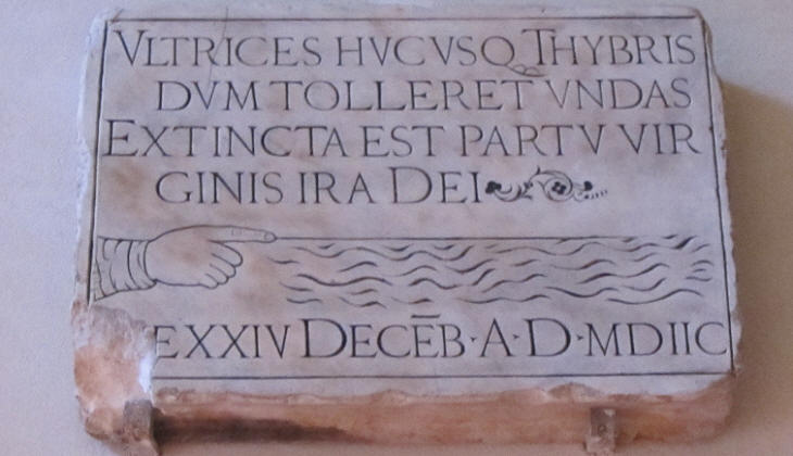 Inscription at Convento della Minerva