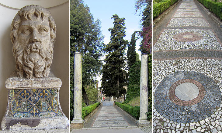 Walking in the alleys of Villa d'Este