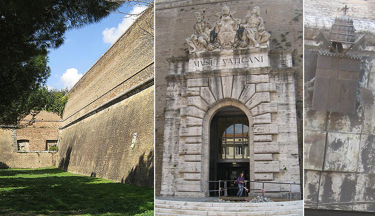 The walls between Porta Pertusa and Porta Angelica
