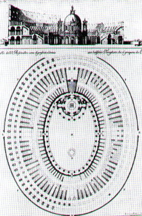 Plan of the church designed by Carlo Fontana