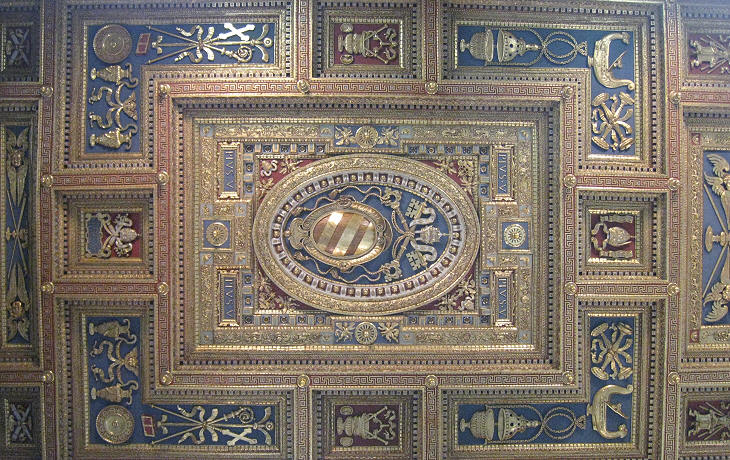 Mosaics and ceiling