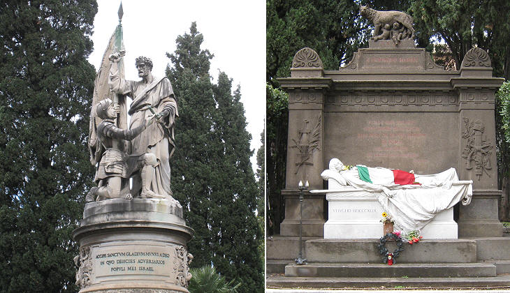 Monument for the battle in Mentana