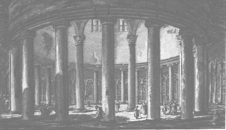 S. Stefano Rotondo interior by Piranesi