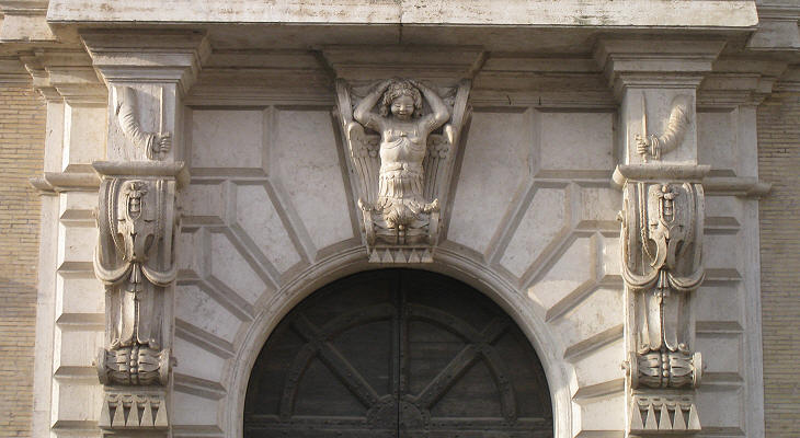 Detail of the entrance