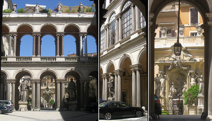 Views of the central courtyard