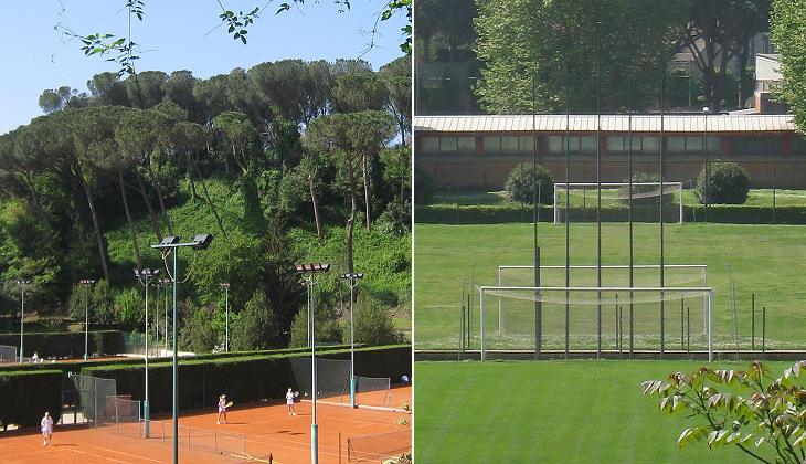 Tennis and soccer facilities