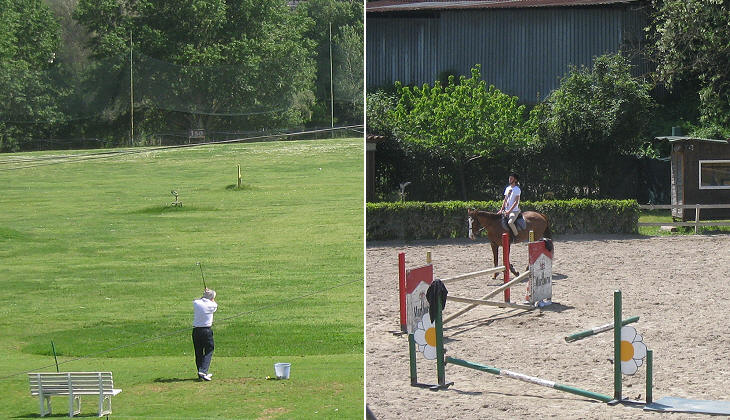 Golf and show jumping facilities
