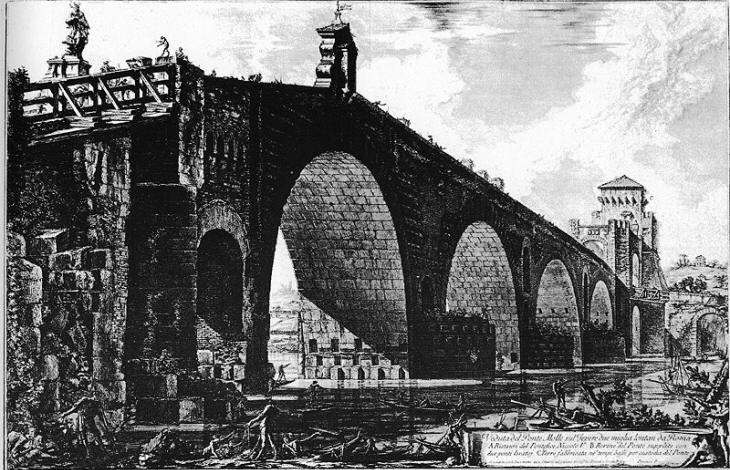 Ponte Milvio by Giovan Battista Piranesi
