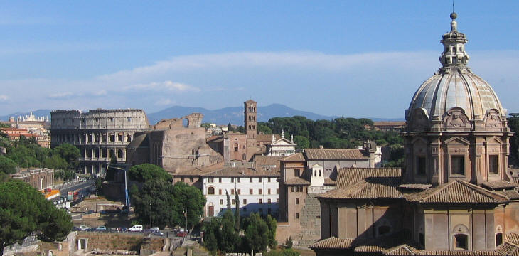 View of S. Giovanni in Laterano and the Castelli