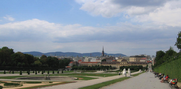 View of Vienna from the Belvedere Gardens