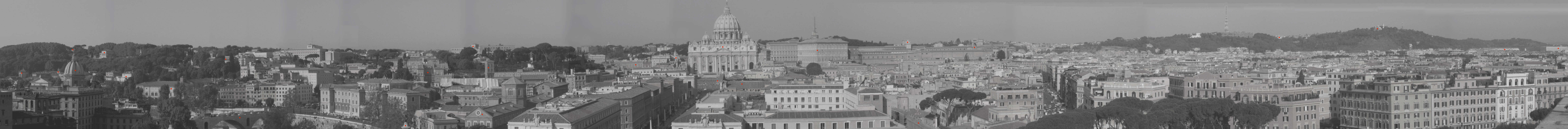 Grand View of Rome from Castel Sant'Angelo - Clickable View