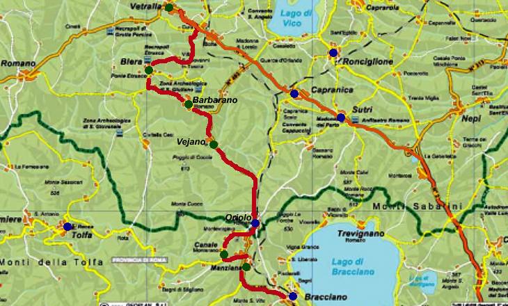 From Bracciano To Viterbo Manziana Canale Monterano And Vejano