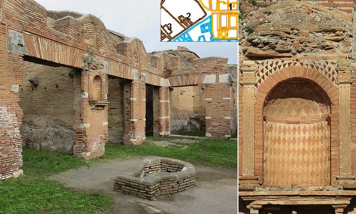 Ancient Ostia Decumanus Maximus From The Forum To Cardo Degli Aurighi