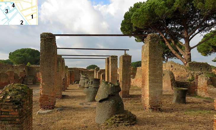 Ancient Ostia Cardo Maximus Southern Section