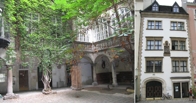 Italian Style Courtyard In Schwanenfeld Haus Backerstrasse 7 And Renaissance House Judenplatz