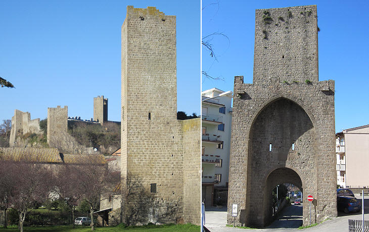 Viterbo - Walls, Gates and Towers
